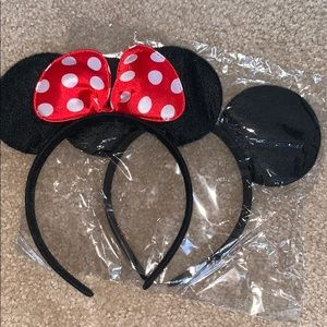 2pcs mickey mouse ears red and plain